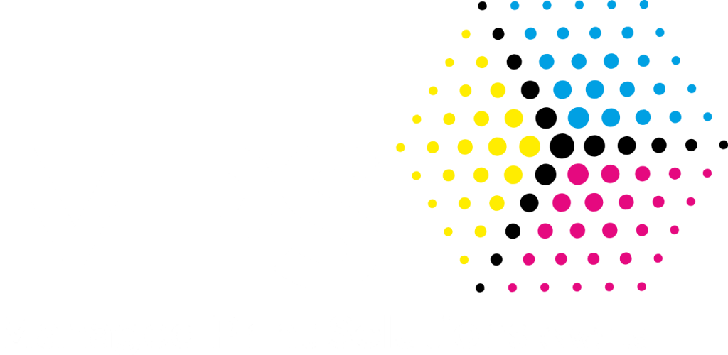 Managed Print Solutions Logo white. Photocopier hire throughout the North West.